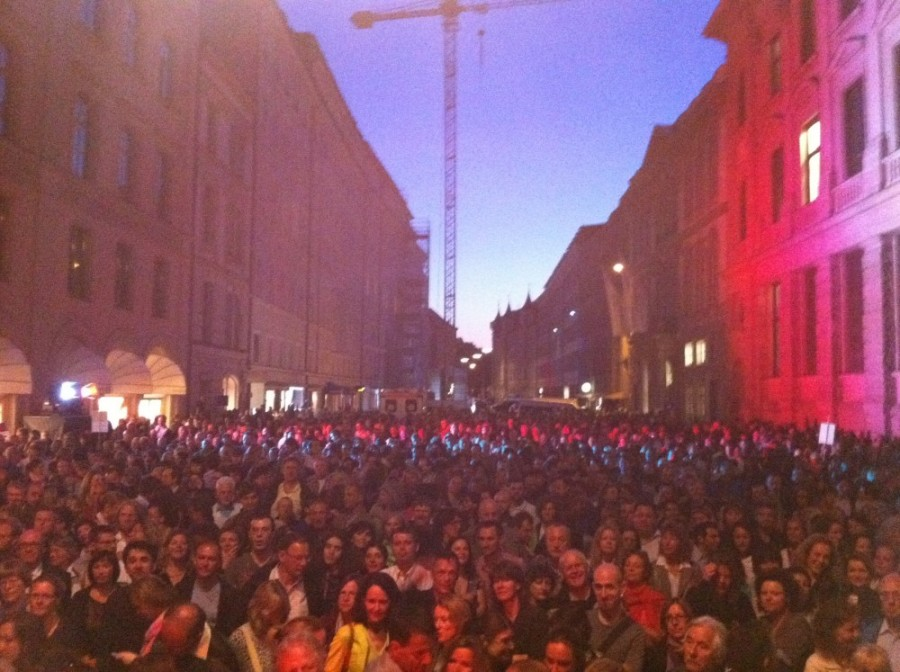 Open Air concert last summer: view from the stage...